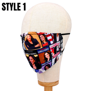 Kamala Harris Reusable Mask w/Filter Pouch
