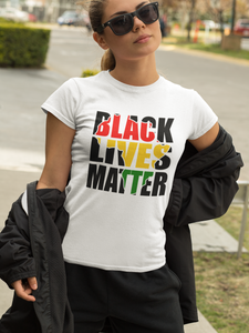 Black Lives Matter with Africa Cutout