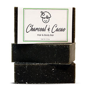 Charcoal & Cacao Hair and Body Bar