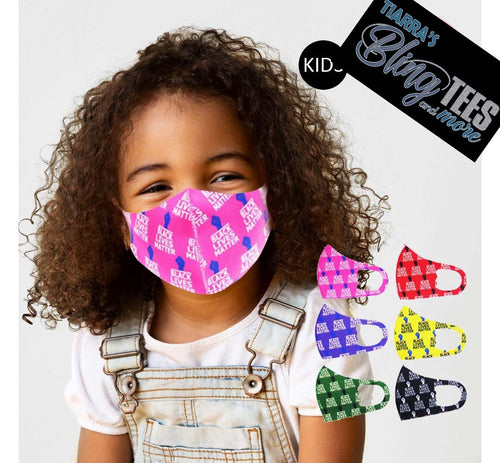 Children's Fashion Black Lives Matter Print Face Cover