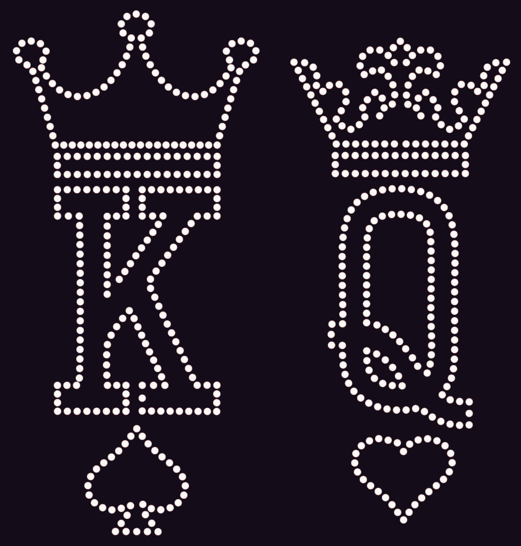 King and Queen Crown Rhinestone Template