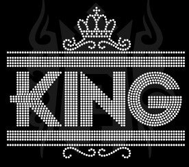 King Rhinestone Transfer