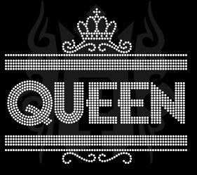 Queen Rhinestone Template