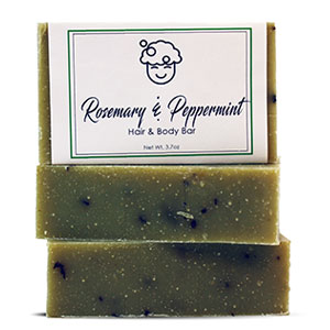 Rosemary & Peppermint Hair and Body Bar