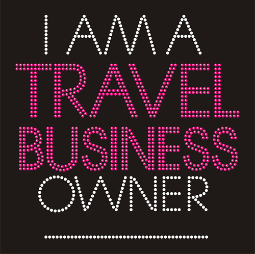 I Am a Travel Business Owner Rhinestone Transfer
