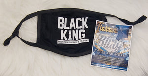Black King Adult Face Mask