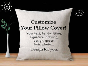 Custom Linen Pillow Cover