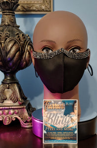 Rhinestone Accented Adult Face Mask