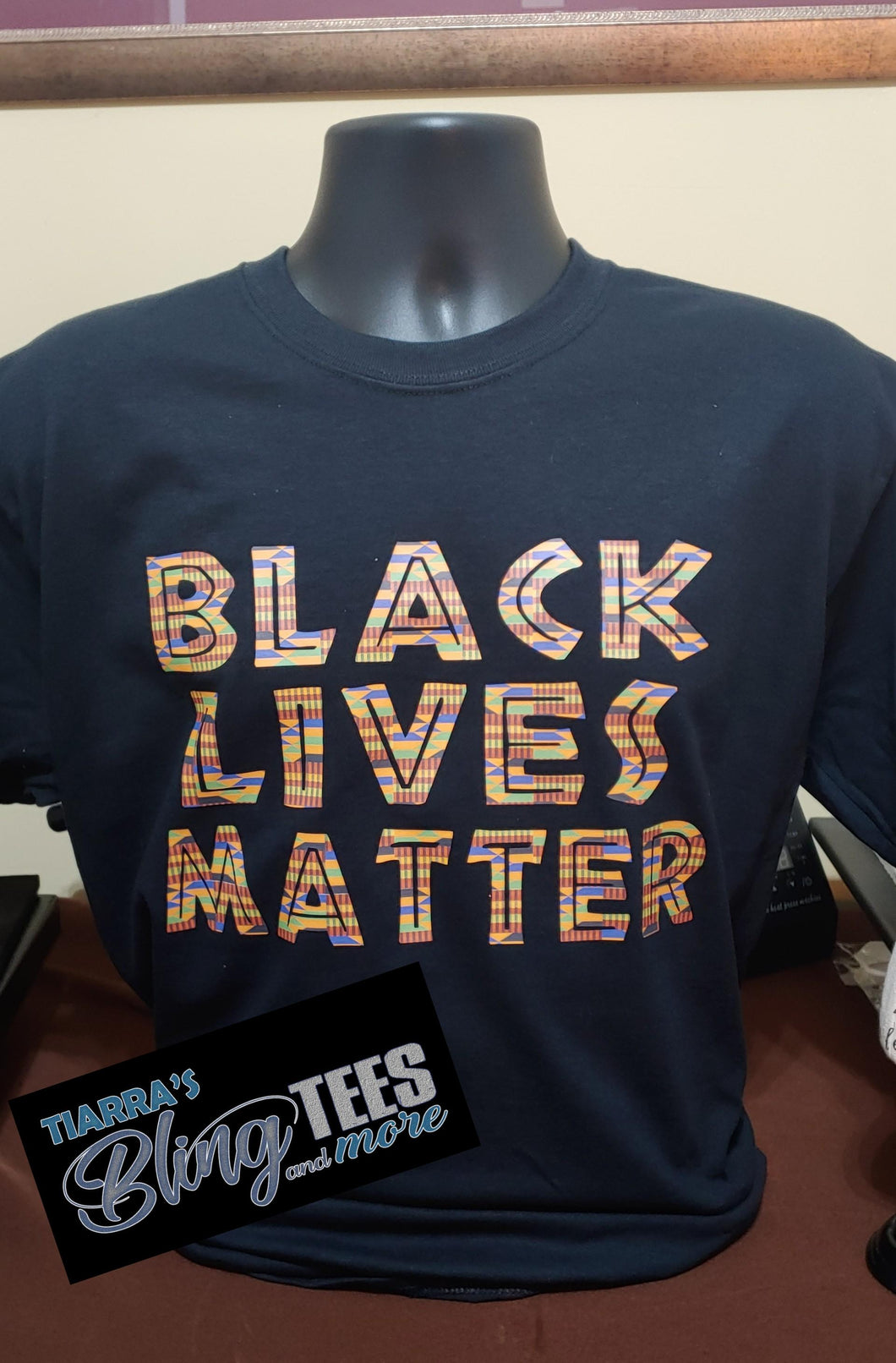 Kente Print Black Lives Matter Shirt