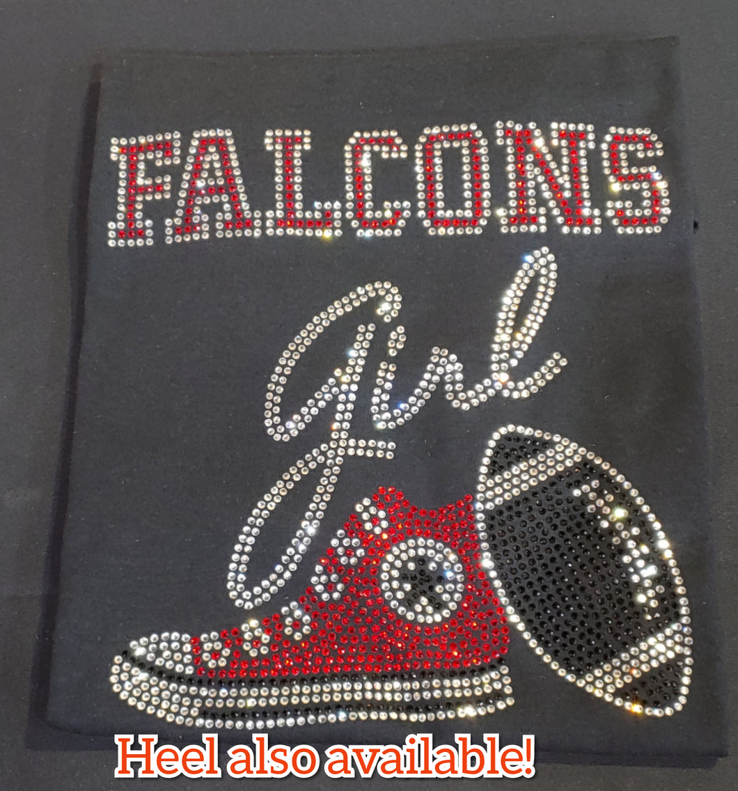 Falcons Girl Rhinestone Shirt