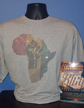 Load image into Gallery viewer, Rhinestone Africa Black Power T-Shirt