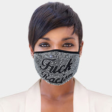 Load image into Gallery viewer, Fxxk Racism Rhinestone Adult Face Mask