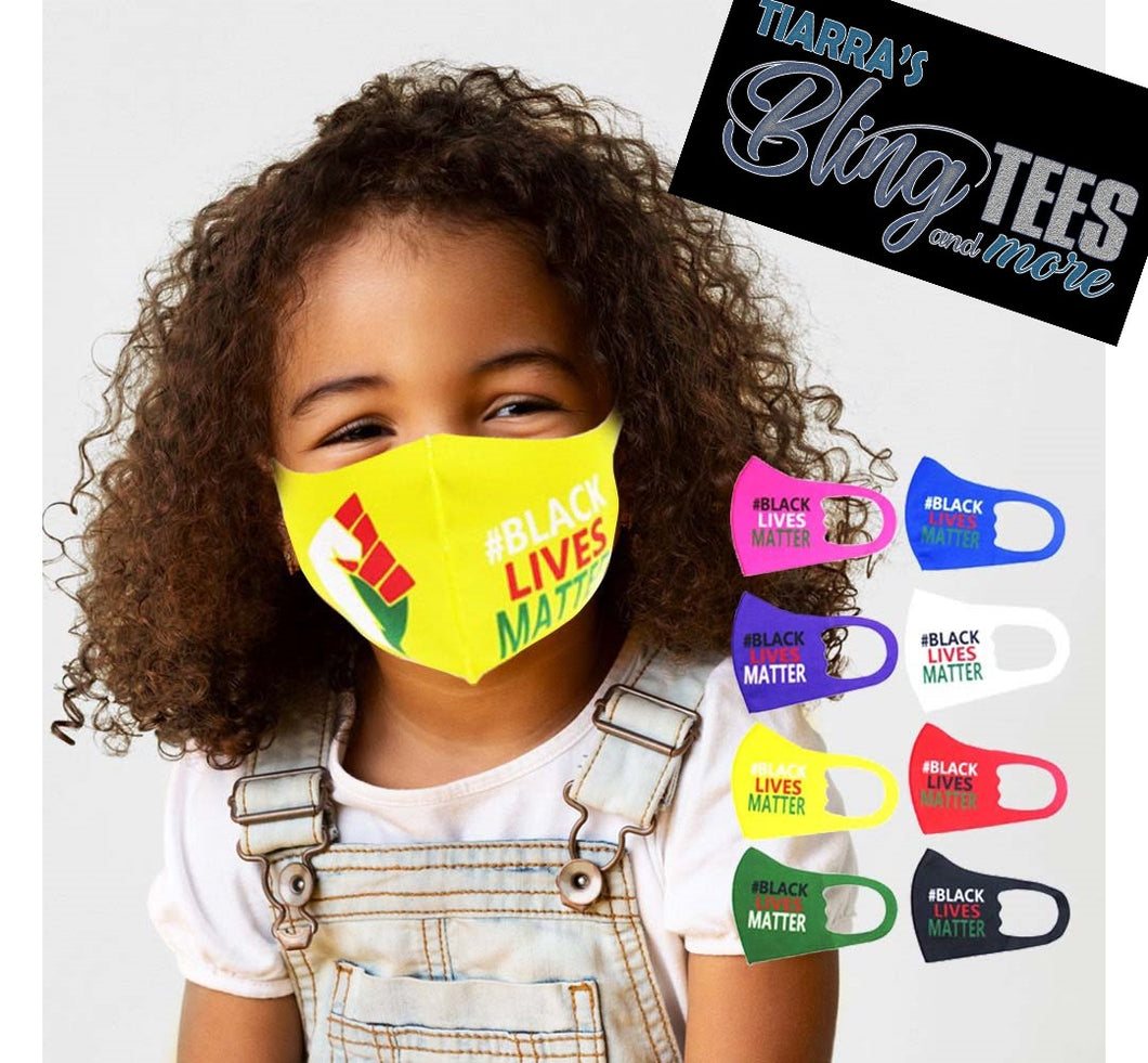 Children's Fashion Black Lives Matter Face Cover with Fist
