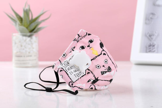 Children's Pink Cat Face Cover w/ Respirator