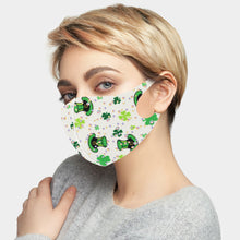 Load image into Gallery viewer, St. Patrick's Day Clover Print Face Mask - 2 Colors Available