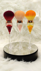 Wine Glass Makeup Powder Brushes