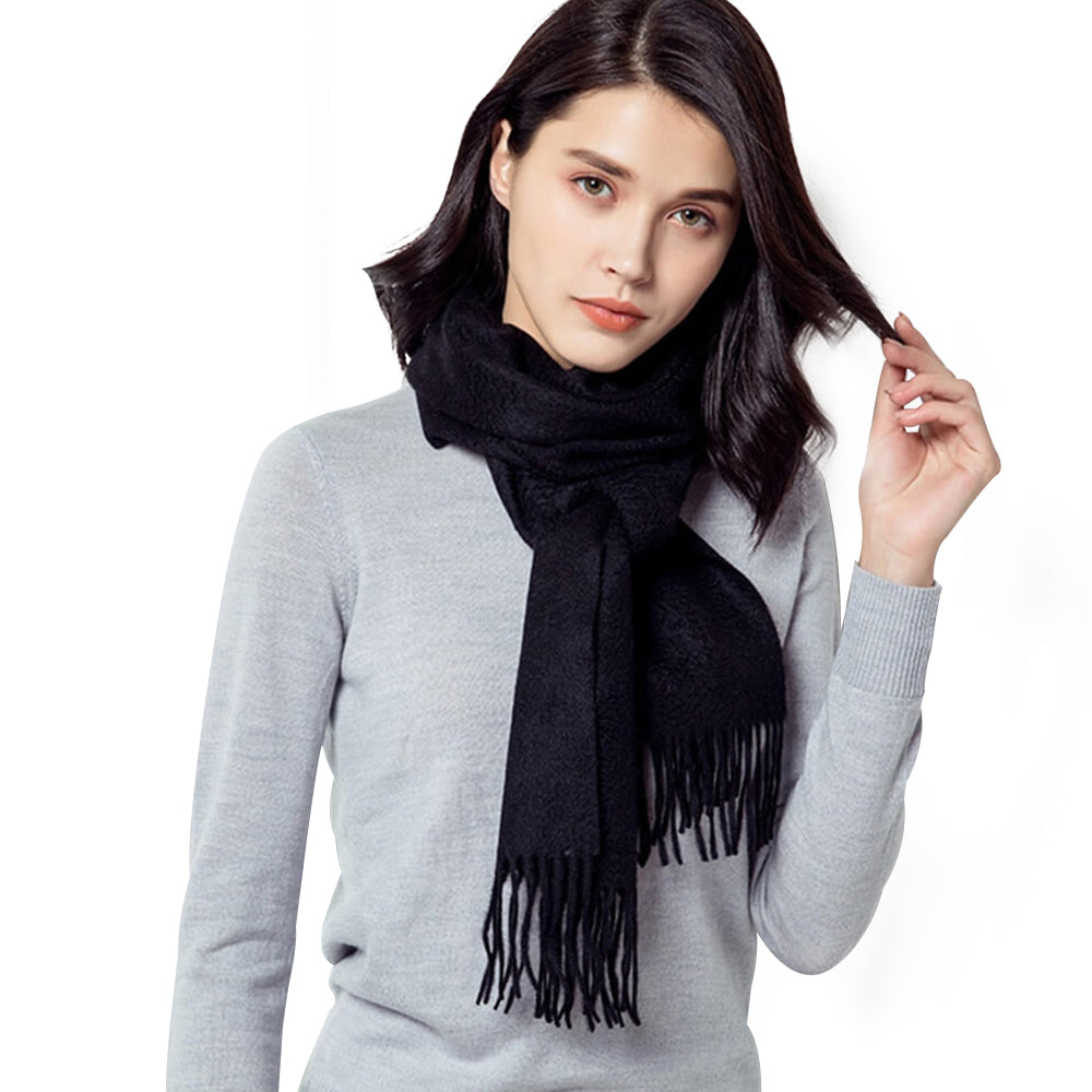 cashmere scarf women black