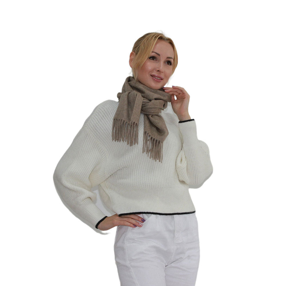 brown cashmere scarf women