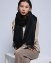 womens cashmere scarf black