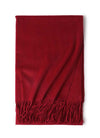 wine red cashmere scarf on plat