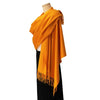 womens cashmere scarf yellow
