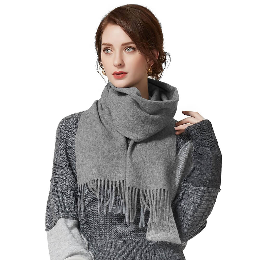 womens cashmere scarf grey