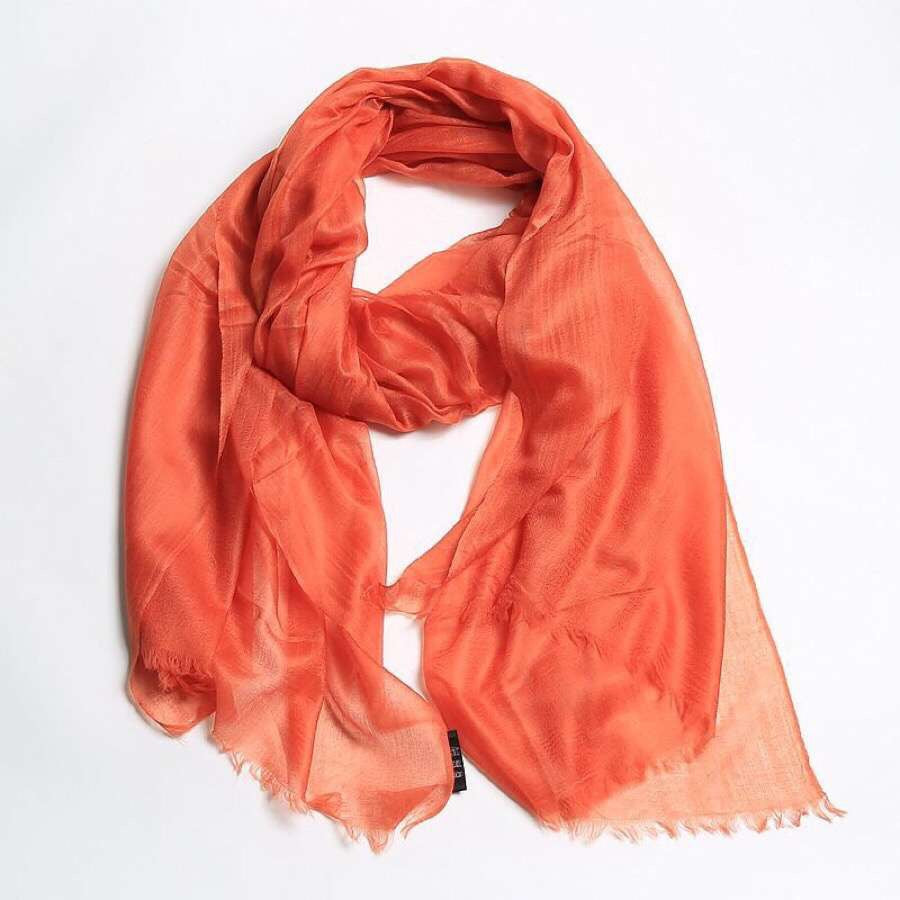 orange lightweight cashmere scarf