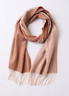 womens scarves winter brown double faced