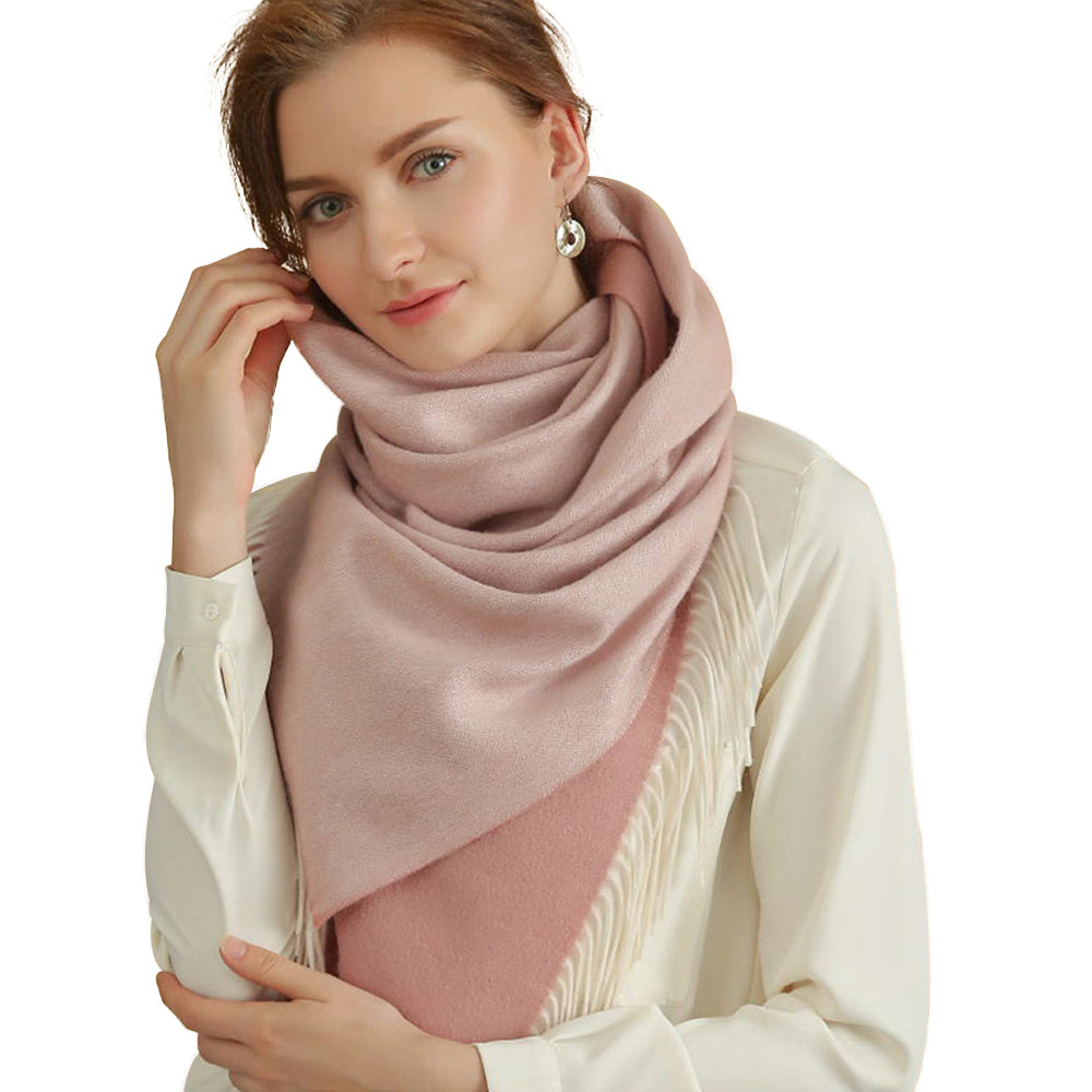 womens pink winter scarves