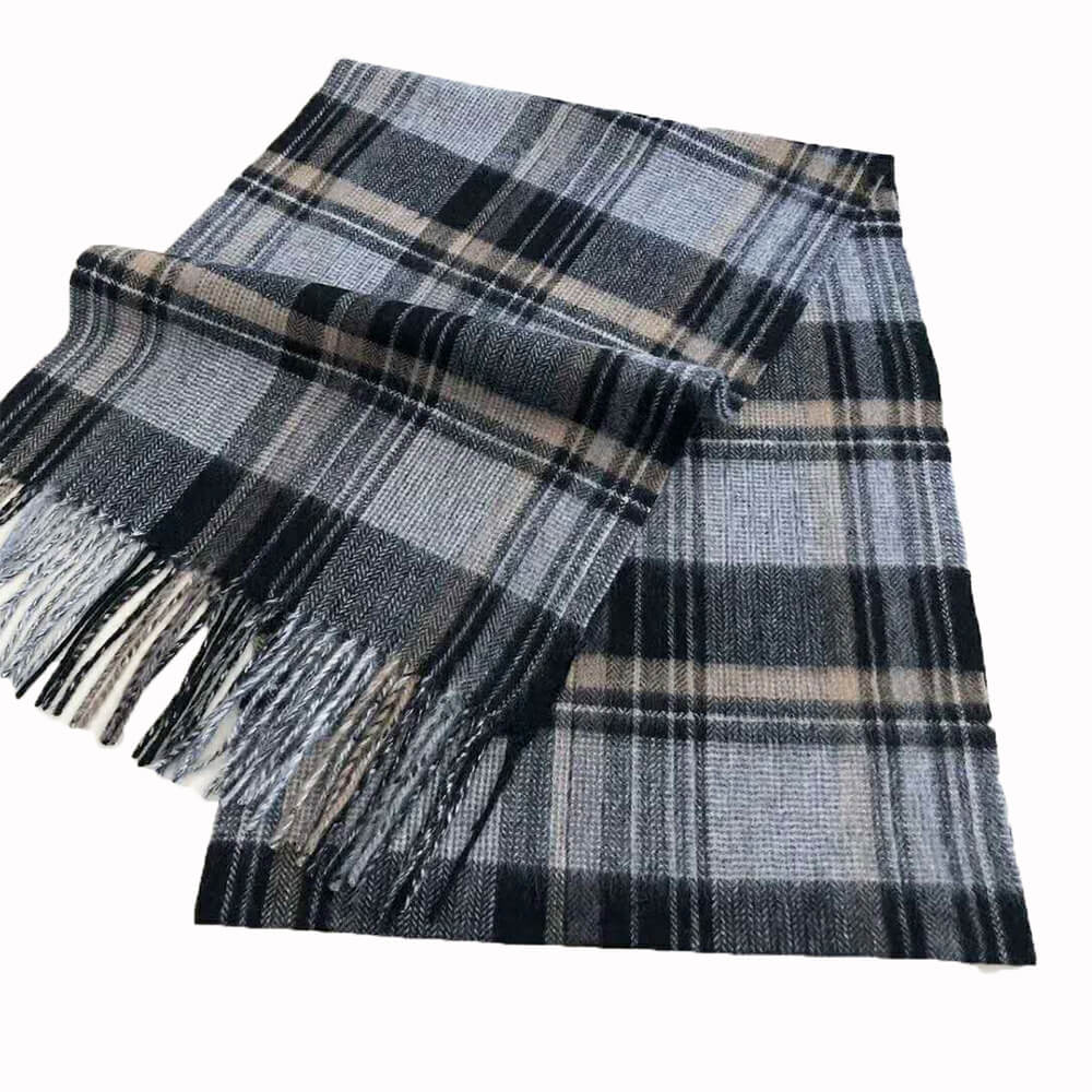 cashmere scarf mens black and gray