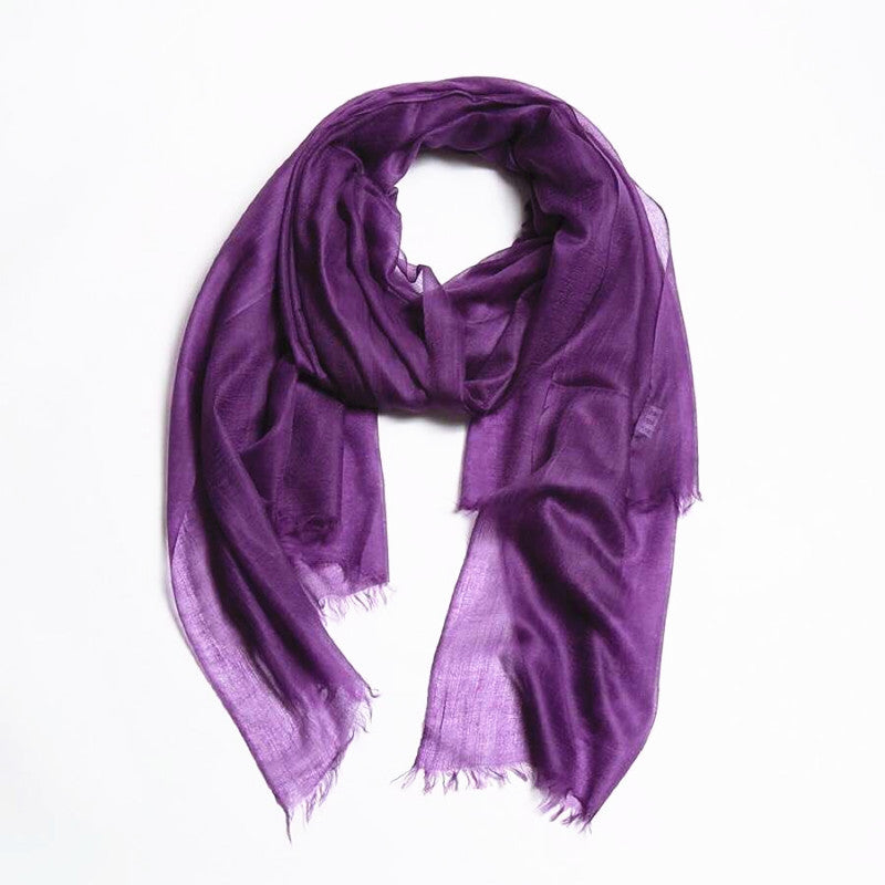 purple lightweight cashmere scarf