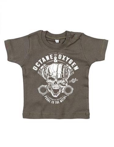 "Baby T-Shirt ""Metal"" Khaki (6-12 Monate)"