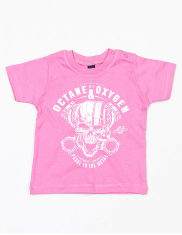 "Baby T-Shirt ""Metal"" Pink (6-12 Monate)"