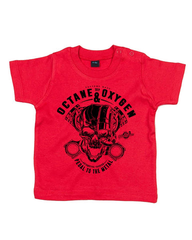"Baby T-Shirt ""Metal"" Rot (6-12 Monate)"