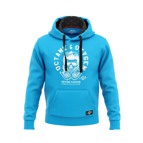 "Hoodie ""Passion"" Hell-Blau - Halloween Edition"