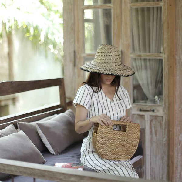 straw bag from Bali to carry natural sunscreen