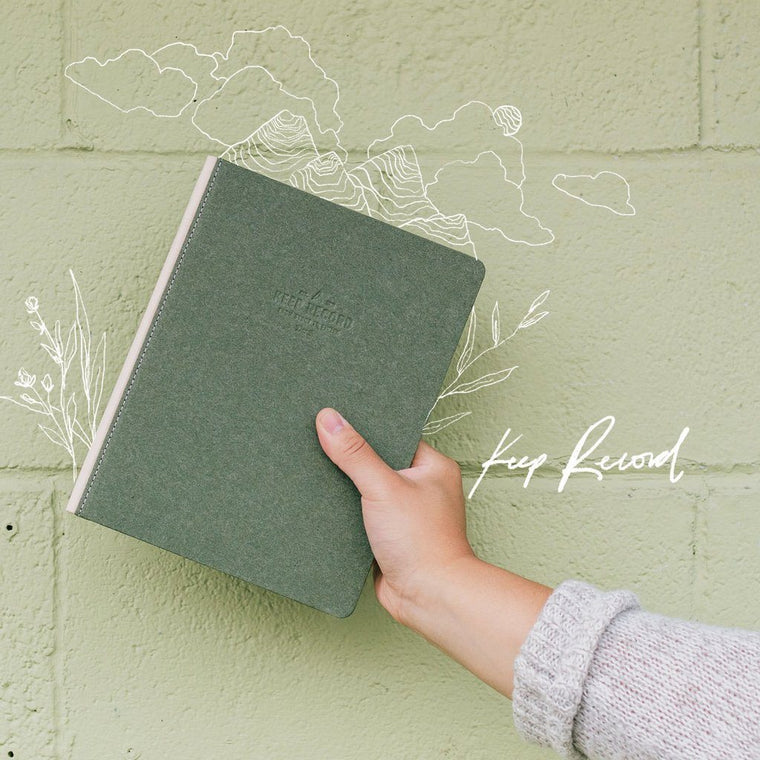 Keep Record Journal- olive or black