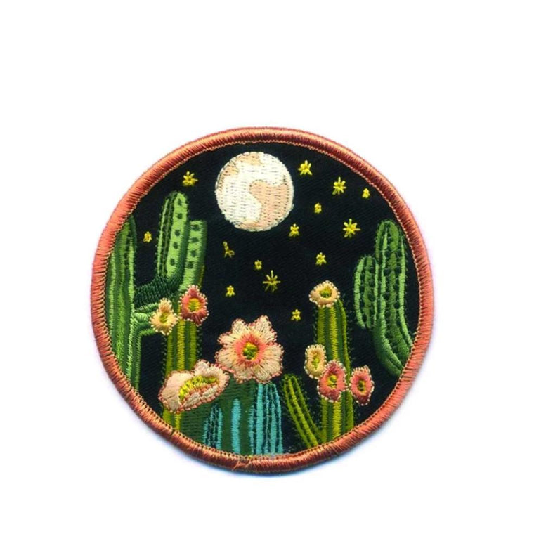 Night Cactus Iron-on Patch