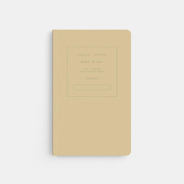 Embossed Soft Cover Notebook- Manila
