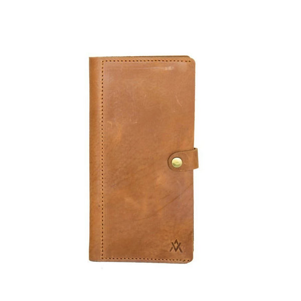Camel leather phone wallet
