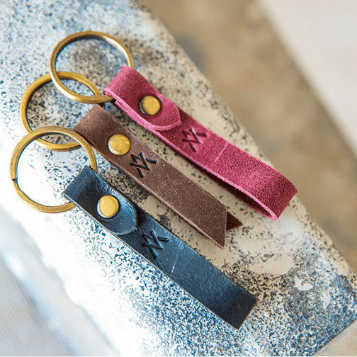 Leather Keychain - Elevate People - Redemption Market