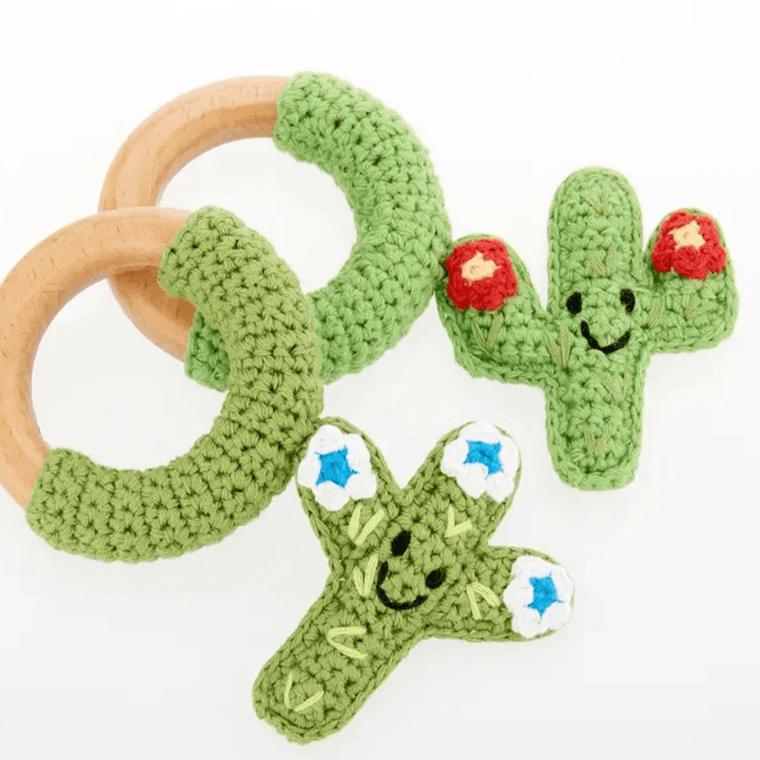 Rattle-Cacti Teether Ring