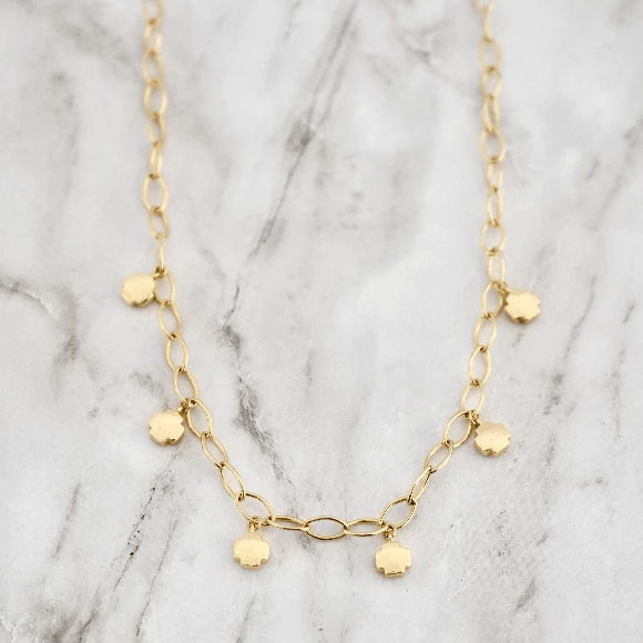 Hazel Gold Charm Necklace