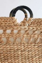 Buffalo Horn Water Hyacinth Tote Bag - Redemption Market