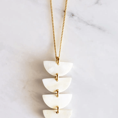Crescent Buffalo Horn Pendant Necklace - Redemption Market