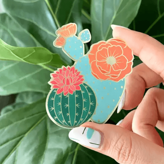 Plant Love Sticker- Blooming Cacti - Redemption Market