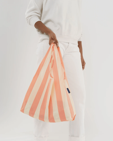 Reusable Baggu Shopping Bag- Washed Brick Stripe - Redemption Market