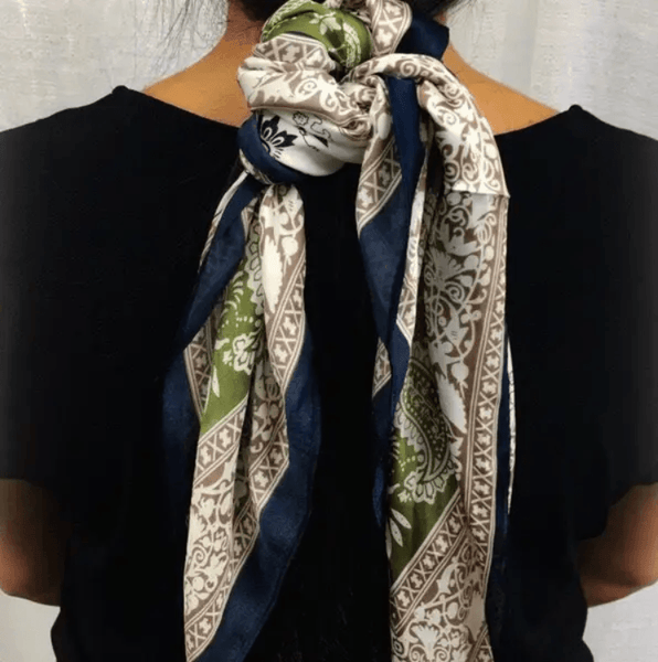 Square Scarf- Olive Paisley - Redemption Market