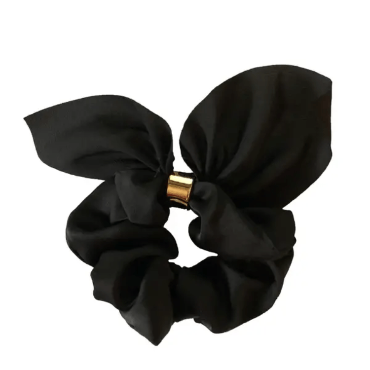 Tie Scrunchie- Black