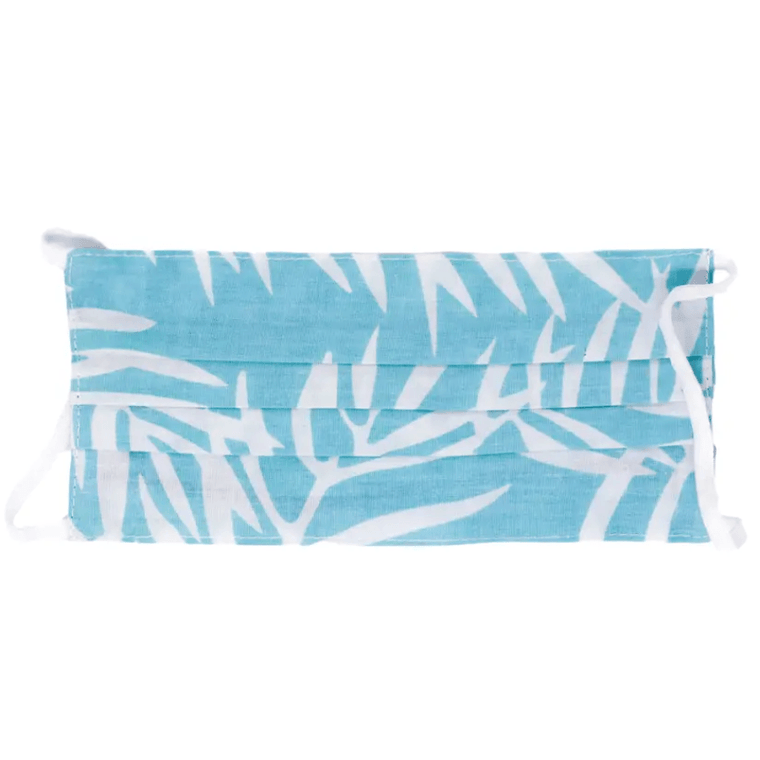Cloth Face Mask- Blue + White Palm